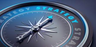 Dark stylish compass - concept strategy stock illustration