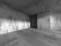 Dark concrete abstract architecture background. 3d render illustration Royalty Free Stock Photos