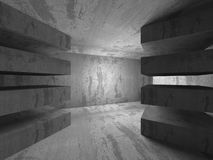 Dark concrete abstract architecture background Stock Image