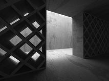 Dark concrete abstract architecture background Stock Photo