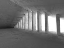 Dark concrete basement room interior. Urban architecture backgro Stock Images