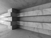Dark concrete empty room interior architecture columns backgroun. D. 3d render illustration Stock Photos