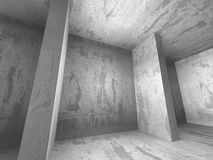 Dark concrete empty room interior architecture columns backgroun. D. 3d render illustration Royalty Free Stock Images