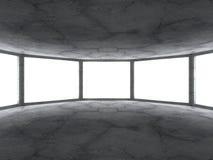 Dark concrete empty room interior. Architecture grunge modern ba Royalty Free Stock Photography
