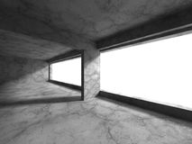 Dark concrete empty room interior. Architecture urban background Royalty Free Stock Images