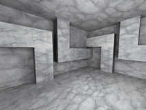 Dark concrete empty room interior background. 3d render illustration Stock Image