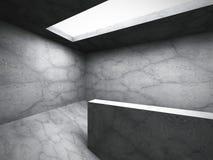 Dark concrete empty room interior background Stock Image