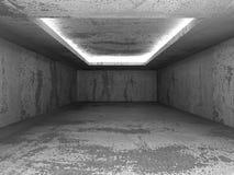 Dark concrete empty room interior background. 3d render illustration Stock Image
