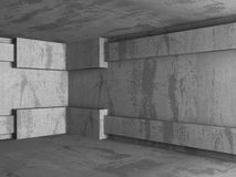 Dark concrete empty room interior background Royalty Free Stock Photos