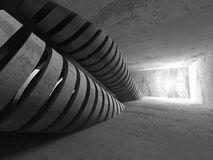 Dark concrete empty room interior background. 3d render illustration Stock Photos