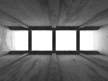 Dark concrete empty room interior. Modern urban architecture bac Royalty Free Stock Images