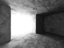 Dark concrete empty room interior. Urban architecture background Royalty Free Stock Photo