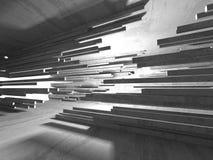 Dark concrete empty room. Modern architecture design Stock Photo
