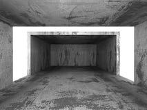 Dark concrete empty urban room interior background Stock Images