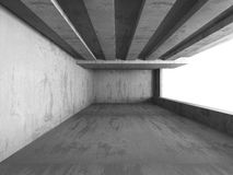 Dark concrete empty urban room interior background Royalty Free Stock Images