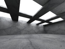 Dark concrete empty urban room interior. Modern architecture bac Royalty Free Stock Photos