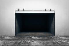 Dark concrete garage royalty free illustration