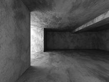 Dark concrete room basement interior. Abstract architecture back Stock Photo