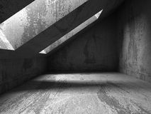 Dark concrete room basement interior. Abstract architecture back Stock Photography