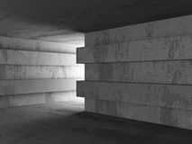 Dark concrete room basement interior. Abstract architecture back Royalty Free Stock Image