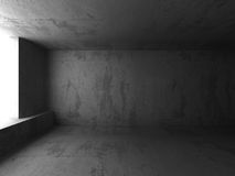 Dark concrete room basement interior. Abstract architecture back Stock Images