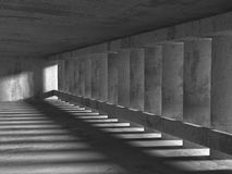 Dark concrete room basement interior. Abstract architecture back Royalty Free Stock Photos
