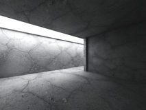 Dark concrete room with ceiling light. Architecture background Royalty Free Stock Photo