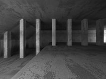 Dark concrete room interior. Abstract architecture industrial ba Royalty Free Stock Image