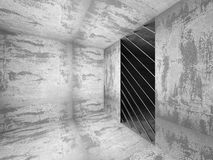Dark concrete room interior. Architecture background Royalty Free Stock Photography