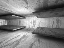 Dark concrete room interior. Architecture background Stock Photo