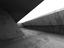 Dark concrete room interior. Architecture background Royalty Free Stock Image