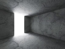 Dark concrete room interior background Royalty Free Stock Photography