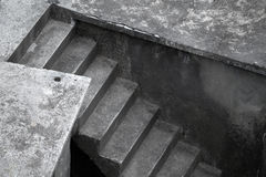 Dark concrete stairs Royalty Free Stock Photo