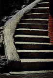Dark concrete stairs Stock Images