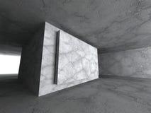 Dark concrete urban architecture background Stock Image