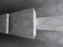 Dark concrete urban architecture background Royalty Free Stock Images