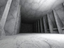 Dark concrete urban room interior. Architecture modern backgroun. D. 3d render illustration Stock Photos