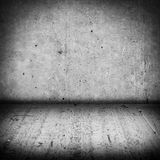 Dark concrete wall and cement floor Stock Image