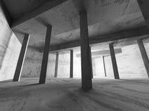Dark concrete walls room interior. Architecture abstract backgro. Und. 3d render illustration royalty free illustration