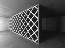 Dark concrete walls room interior. Architecture abstract backgro Stock Images