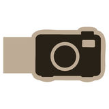 Dark contour camera icon. Illustraction design Royalty Free Stock Photo