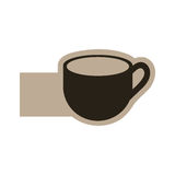 dark contour cup icon Stock Images