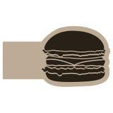 dark contour humburger icon Royalty Free Stock Photo