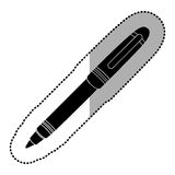 Dark contour metal ballpen icon. Illustraction design image Royalty Free Stock Photo
