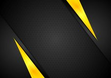 Dark contrast black yellow background. Vector design Royalty Free Stock Images