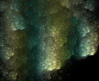 Dark corals, fractal generated background Stock Photo