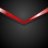 Dark corporate background with glow red arrow Stock Photos