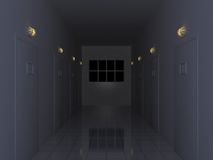 Dark Corridor Stock Photography