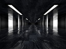 Dark corridor, 3D Stock Photo