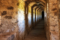 Dark corridor in dungeon Royalty Free Stock Image